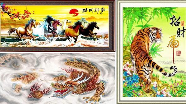 Cấm kị phong thủy khi treo tranh rồng, hổ, ngựa trong nhà tuyệt đối đừng phạm