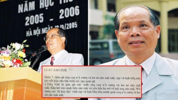 """Phỏng vấn NÓNG: Trò chuyện với PGS. TS Bùi Hiền - """"cha đẻ"""" của bảng chữ cái tiếng Việt cải biên gây xôn xao dư luận"""