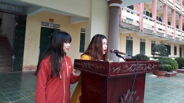 Vụ lột áo nữ sinh lớp 11 ở Hương Khê: Chị dâu, em chồng xin lỗi 1.800 học sinh
