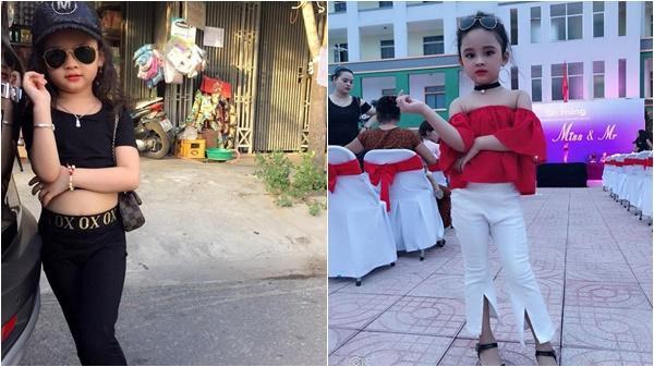 """Bé gái 6 tuổi xứ Nghệ """"chất lừ"""" với style sành điệu như fashionista"""