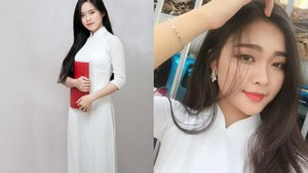 'Hoa khôi áo dài' 10x Hà Tĩnh khiến dân mạng 'đau tim' vì gương mặt xinh như thiếu nữ Hàn Quốc
