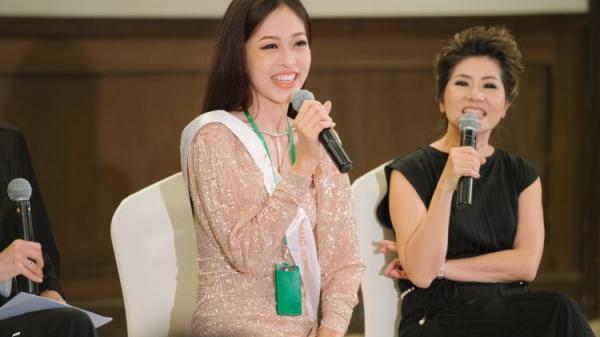 Phương Nga tự tin trả lời phỏng vấn bằng tiếng Anh tại Miss Grand International 2018