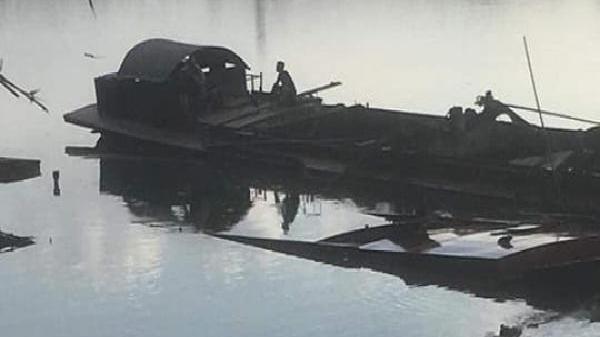 Diễn biến mới vụ tàu 100 tấn bị chìm xuống sông sau khi khai thác cát lậu ở Hà Tĩnh