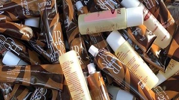 Hà Tĩnh: Tiêu hủy hàng nghìn sản phẩm kem nhuộm tóc hết hạn sử dụng