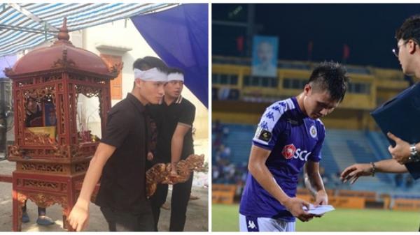 Cầu thủ Quang Hải lặng lẽ cùng người thân nén đau buồn tiễn biệt ông nội 83 tuổi