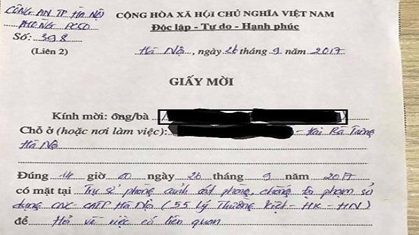 Bạn làm gì khi công an gửi giấy mời vì viết trên Facebook?
