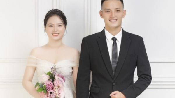 Nhan sắc vợ mới cưới quê Hà Tĩnh của cầu thủ Hoàng Văn Khánh