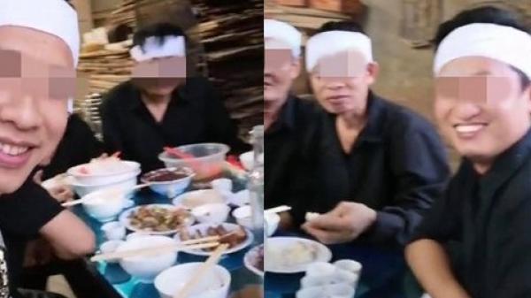 Tranh cãi clip cười đùa vui vẻ trong đám tang người thân, chính chủ cho biết: 'Cụ tôi 102 tuổi nên con cháu cười'