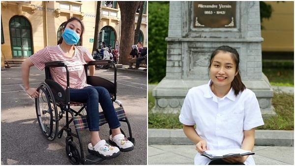 Đôi chân nghị lực của nữ sinh viên Đại học Y Hà Nội