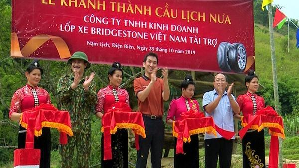 Điện Biên: Khánh thành cầu dân sinh bản Lịch Nưa, xã Nặm Lịch