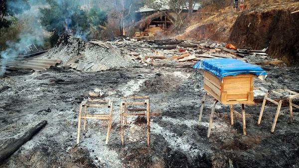 Cháy nhà tại bản Pa Pốm, thiệt hại khoảng 160 triệu đồng