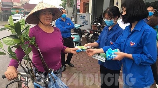TP Chí Linh: Phát miễn phí 10.000 khẩu trang cho người dân