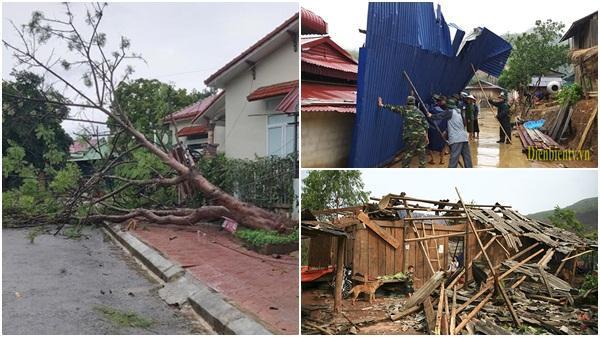 Mưa to kèm dông lốc gây thiệt hại về nhà ở tại Điện Biên