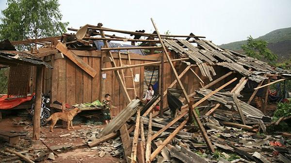 Chỉ trong 1 ngày mưa đá, dông lốc gây thiệt hại hơn 17 tỷ đồng tại Điện Biên