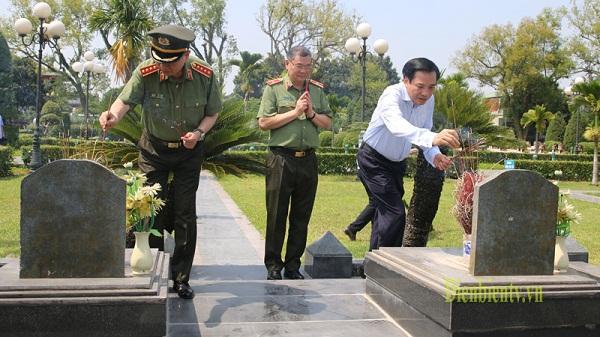 Đại Tướng Tô Lâm, Bộ trưởng Bộ Công an viếng Nghĩa trang Liệt sỹ A1