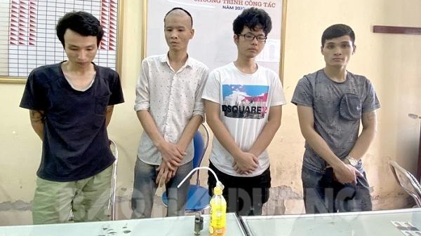 Hải Dương: Bắt quả tang 4 thanh niên sử dụng ma túy trong nhà nghỉ