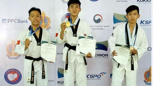Chàng trai Hậu Giang  xuất sắc dành 2 huy chương vàng tại Đại hội Võ thuật taekwondo quốc tế Hanmadang châu Á 2017