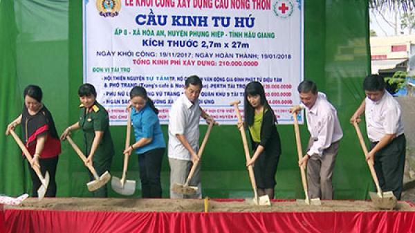 Huyện Phụng Hiệp (Hậu Giang): Khởi công 2 công trình cầu giao thông nông thôn