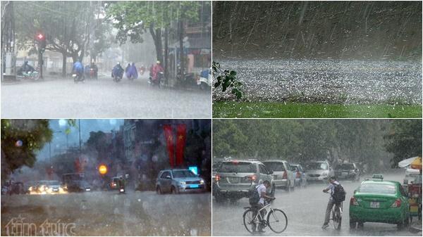 Đêm nay, cả nước có mưa, đề phòng tố lốc, mưa đá