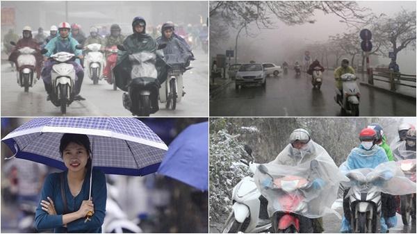 Cuối tuần miền Bắc đón không khí lạnh, nhiệt độ giảm đột ngột 9 độ gây mưa rét