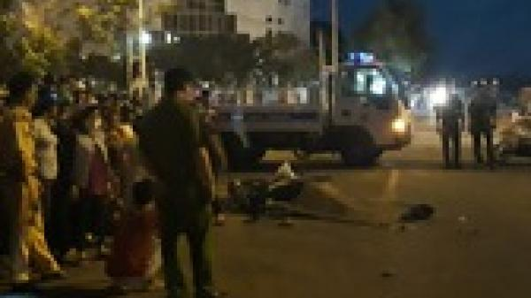Kinh hoàng: Nữ trung úy công an tử vong dưới bánh xe ben