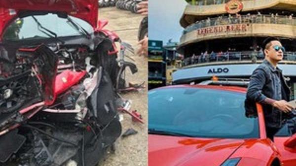 Xế khủng 16 tỷ đồng của Tuấn Hưng bị nghi tai nạn thảm khốc nát đầu trên quốc lộ