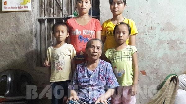 Xót lòng hoàn cảnh éo le của người mẹ đơn thân Hải Dương nuôi 3 con ăn học và chăm sóc mẹ già gần 80 tuổi
