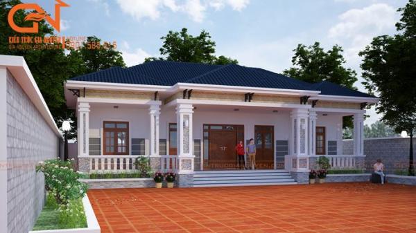 10 mẫu nhà mái bằng 1 tầng ở nông thôn vừa rẻ vừa đẹp hiện đại