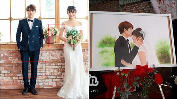 Studio làm ảnh không có tâm, cô dâu Hòa Bình nhanh trí tự vẽ ảnh cưới khiến hôn lễ độc đáo ngoài sức tưởng tượng