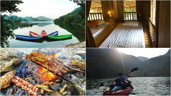 Chuyến đi 700.000 đồng nghỉ ven sông, ăn cỗ lá ở Hòa Bình