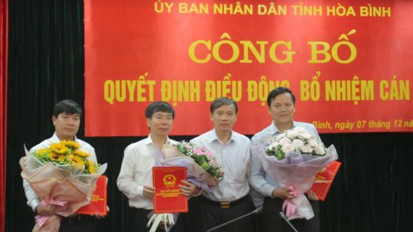 UBND tỉnh Hòa Bình công bố Quyết định điều động, bổ nhiệm Giám đốc, Phó Giám đốc Sở Công thương, Phó giám đốc Sở Tài chính