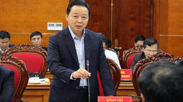 Bộ trưởng Trần Hồng Hà: Hoà Bình cần sớm lập quy hoạch, kế hoạch di dời dân ra khỏi các vùng có nguy cơ sạt lở
