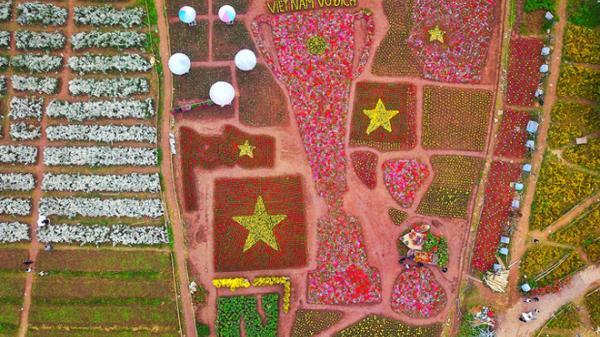 ASIAN Cup 2019: Độc đáo chiếc Cup hoa tươi khổng lồ cổ vũ đội tuyển Việt Nam