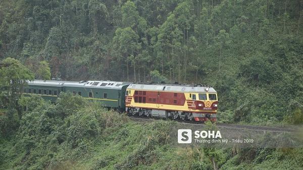 Những hình ảnh đầu tiên về đoàn tàu bọc thép của ông Kim Jong Un tại Việt Nam