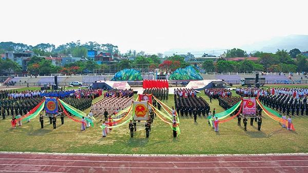 Điện Biên: Toàn cảnh sơ duyệt diễu binh, diễu hành mừng đại lễ