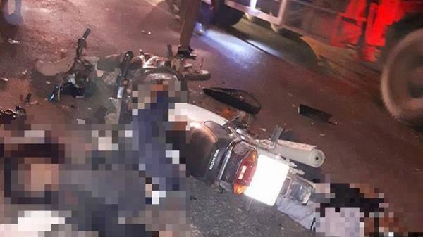 2 xe máy đối đầu, 2 người tử vong tại chỗ