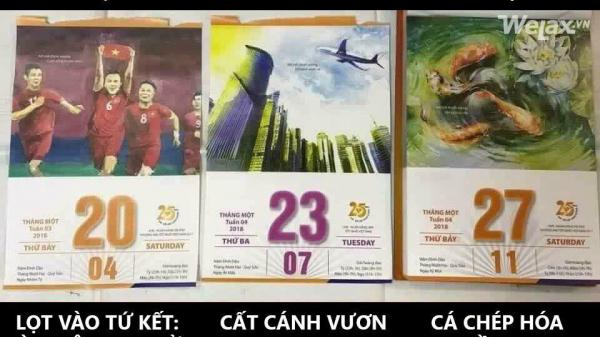 Quyển lịch tiên tri hành trình của U23 Việt Nam: Vượt qua tứ kết, bán kết cất cánh vươn cao, chung kết 27/1 - Cá chép hoá rồng?