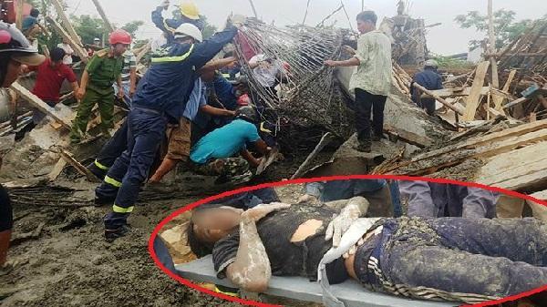 CẬN CẢNH hiện trường vụ sập giàn giáo kinh hoàng ở Huế, khiến nhiều người bị thương