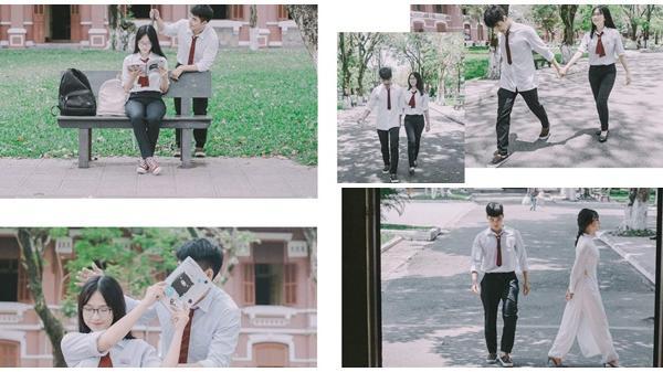 Bộ ảnh cực tình của học sinh trường Đồng Khánh, Huế: Mối tình năm 17 tuổi đẹp và mộng mơ nhiều lắm