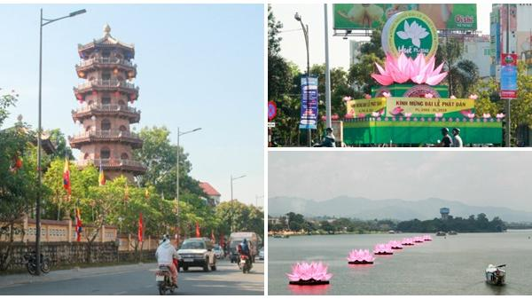 Cố đô Huế rực rỡ, lung linh trong Tuần lễ Phật đản 2018