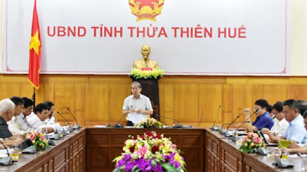 Chủ tịch UBND tỉnh Phan Ngọc Thọ làm việc với Liên hiệp Hội khoa học kỹ thuật tỉnh