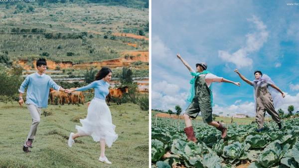 """Dân mạng phát cuồng với bộ ảnh cưới """"cực lạ"""" của cặp đôi phượt thủ ở Hưng Yên"""