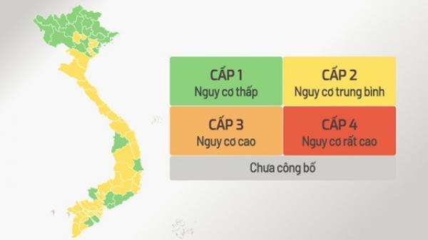 CHÍNH THỨC: Công bố cấp độ dịch bệnh của 63 tỉnh, thành