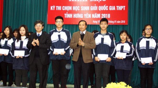 Hưng Yên khai mạc Kỳ thi chọn học sinh giỏi Quốc gia THPT năm 2018