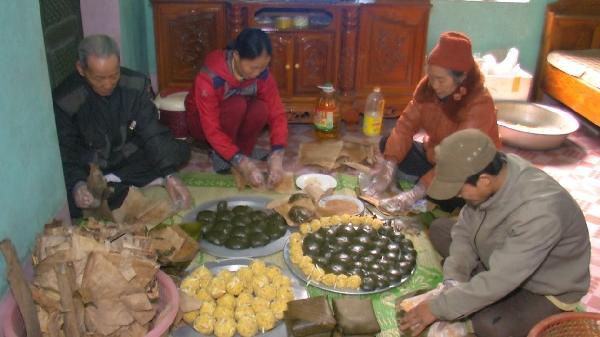 Bánh gai to như bánh chưng chỉ có ở xã Minh Phượng, Tiên Lữ, Hưng Yên