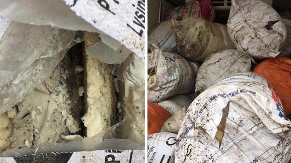 Phát hiện tài xế Hưng Yên trở gần 1 tấn mỡ bò bẩn, bốc mùi trên đường đi tiêu thụ