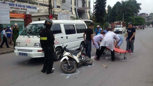 TP Hưng Yên: Xe máy và ô tô húc nhau làm 1 người bị thương nặng