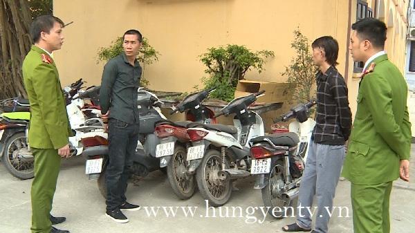 """Yên Mỹ (Hưng Yên): Bắt được nhóm đối tượng """"chuyên nghiệp"""" chuyên trộm xe máy trong thời gian gần đây"""