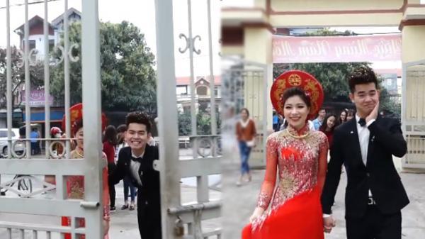 Có gì trong clip cặp đôi Hưng Yên dắt tay nhau đi đăng kí kết hôn mà hút tới 4 triệu người xem?