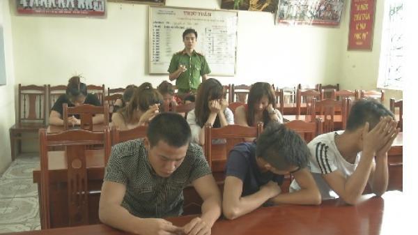 Hưng Yên: Phát hiện 12 đối tượng có hành vi sử dụng ma túy tại quán karaoke ở Mỹ Hào